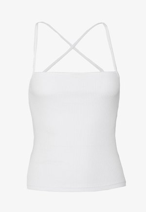 RIBBED BASIC SINGLET - Top - offwhite
