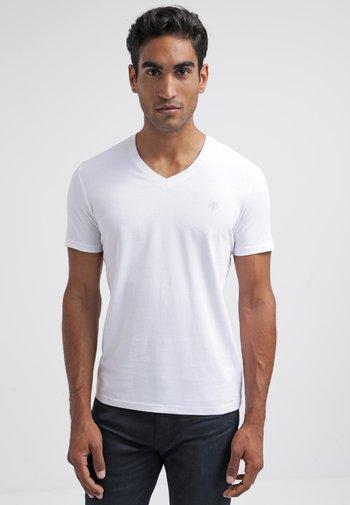 SCOTT SHAPED FIT - T-shirt - bas - white