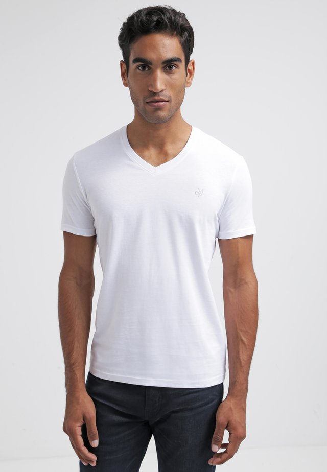 SCOTT SHAPED FIT - Basic T-shirt - white