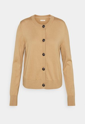 CARDIGAN LONGSLEEVE ROUND-NECK BUTTON CLOSURE - Cardigan - caramel