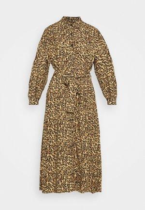 KERA LEOPARD SHIRT DRESS BROWN - Abito a camicia - brown