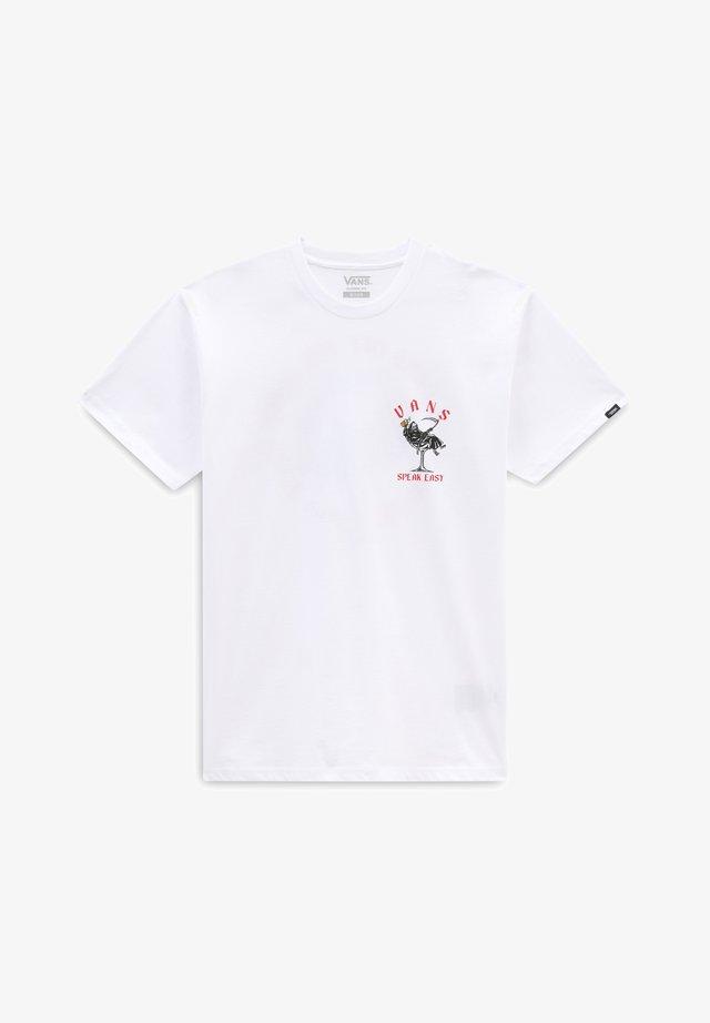 MN SPEAK EASY SS - T-shirt con stampa - white