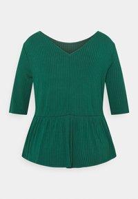 CAPSULE by Simply Be - PEPLUM HEM - Long sleeved top - palm green - 1