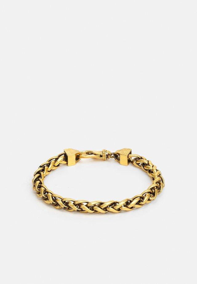 NARROW WHEAT WIRE CHAIN UNISEX - Náramek - antique gold-coloured