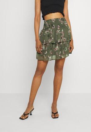 VMWONDA SMOCK SHORT SKIRT - A-line skirt - kalamata