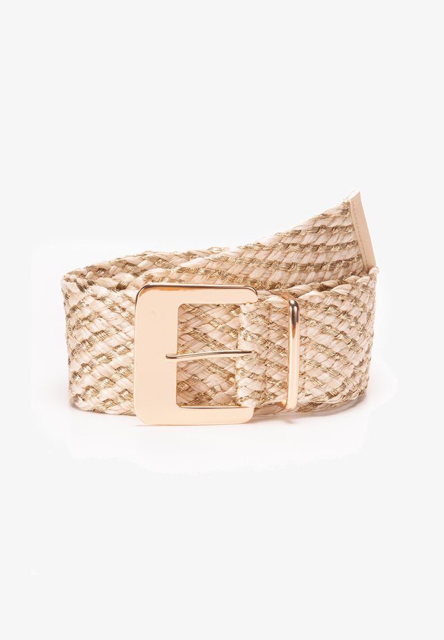 Braided belt - beigegold