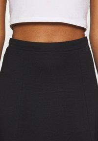 Even&Odd - Basic maxi skirt - A-line skirt - black - 4
