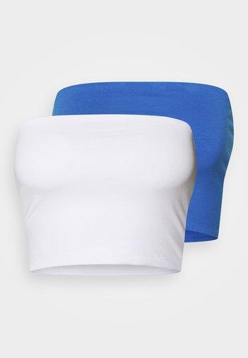 ADDILYN TUBE 2 PACK - Top - white/blue