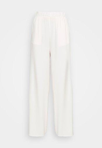 FLOWING WIDE LEG PANTS - Bukse - offwhite