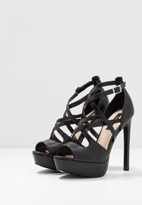 Even&Odd - LEATHER - Korolliset sandaalit - black - 4