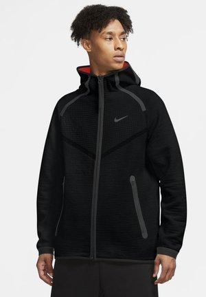 HOODIE  - Zip-up hoodie - black/university red/black