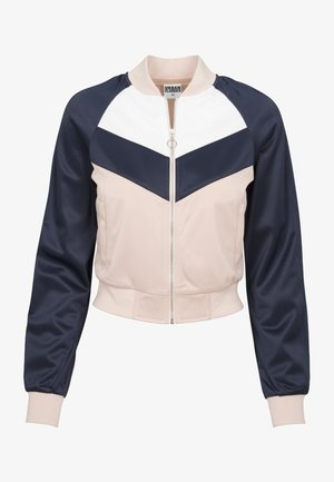 Bomberjacke - light rose/navy/white