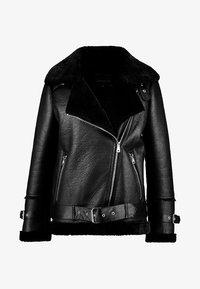COMMUNITY  - Faux leather jacket - black