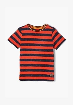 T-shirt con stampa - orange stripes