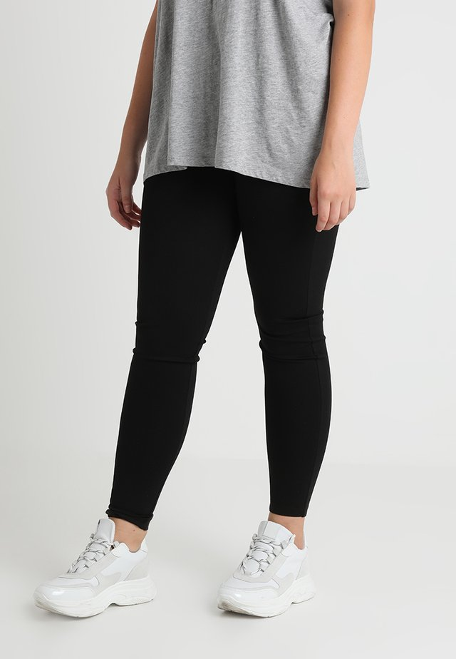 LONG - Leggings - Trousers - black