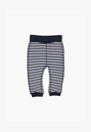 Leggings - Trousers - white/blue stripes