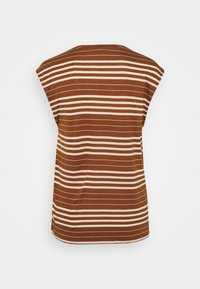 Esprit Collection - STRIPE TEE - Print T-shirt - toffee - 1