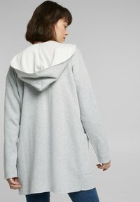 edc by Esprit - MIT KAPUZE - Cardigan - light grey - 2