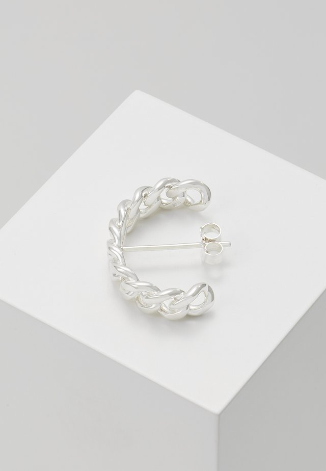 HOOP CHAIN LARGE - Orecchini - silver-coloured