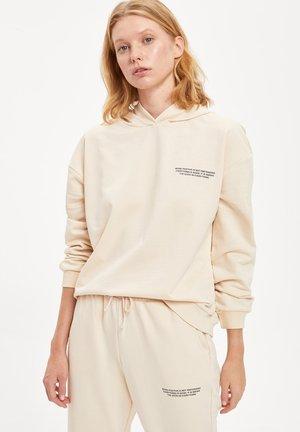 Jersey con capucha - beige