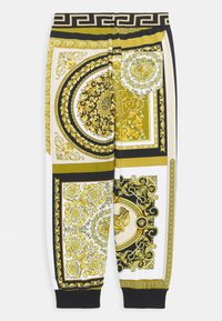 Versace - HERITAGE PRINT UNISEX - Tracksuit bottoms - white/gold/kaki - 1