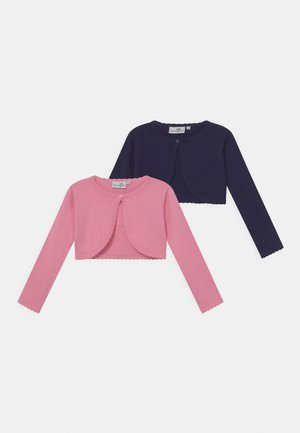 BOLERO 2 PACK - Strickjacke - light pink/navy