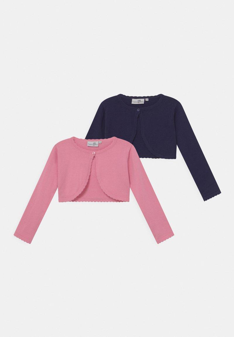 happy girls - BOLERO 2 PACK - Kardigan - light pink/navy