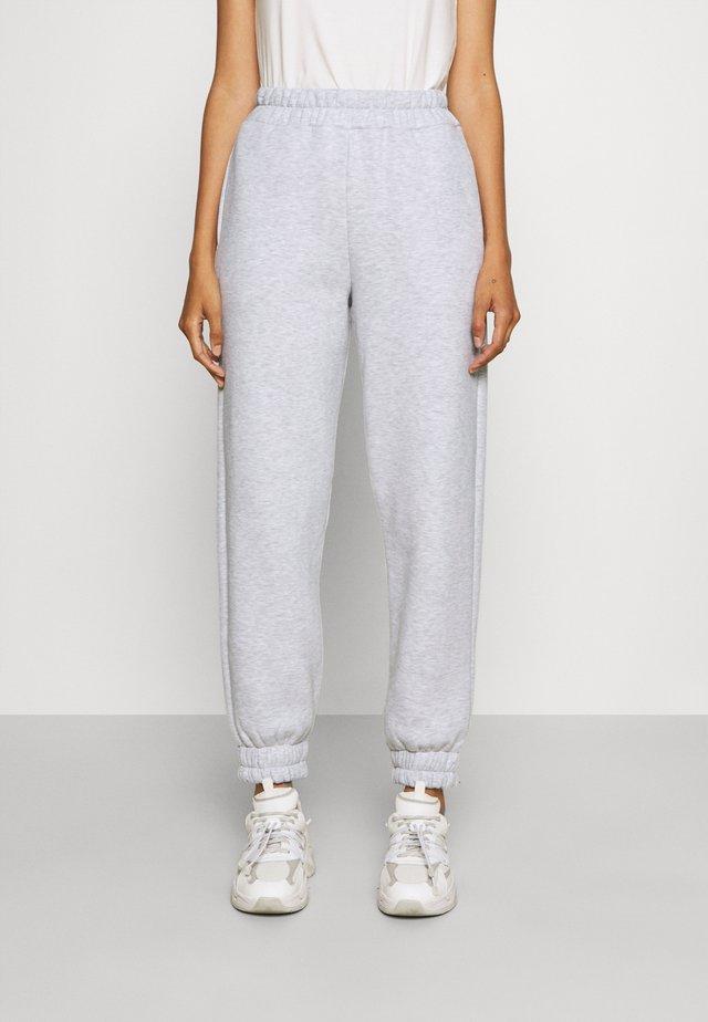 Teplákové kalhoty - grey melange