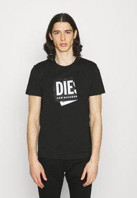 Diesel - T-DIEGO-LAB UNISEX - Print T-shirt - black - 0