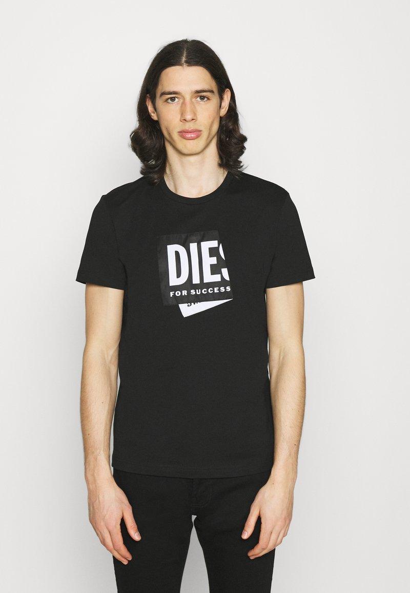Diesel - T-DIEGO-LAB UNISEX - Print T-shirt - black
