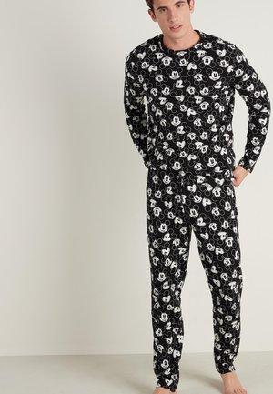 Pyjama set - schwarz - black mickey mouse print