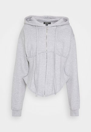 CORSET HOODY - Zip-up hoodie - grey marl