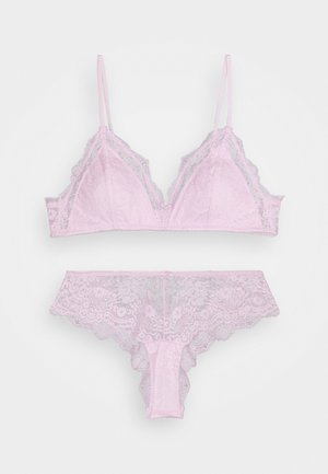 ZOE BRALETTE BRASILIANO SET - Triangle bra - lilac snow