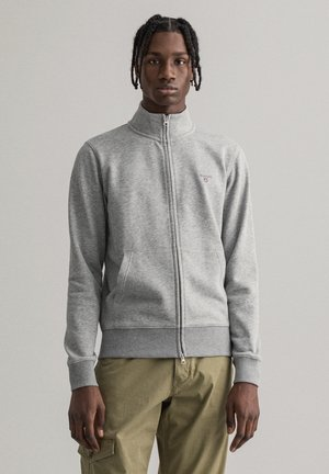 Zip-up hoodie - grey melange
