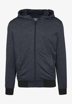 MENS LIGHT TRAINING JACKET - Zip-up hoodie - charcoal/black