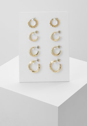 PCSOL HOOP EARRINGS 4 PACK  - Náušnice - gold-coloured