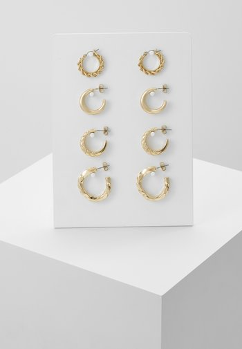 PCSOL HOOP EARRINGS 4 PACK  - Kolczyki - gold-coloured