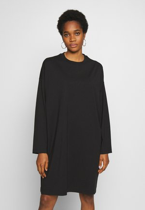 ELKE LONG SLEEVE DRESS - Jerseyklänning - black