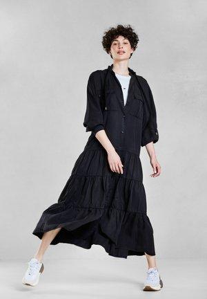 RUFFLE - Shirt dress - black