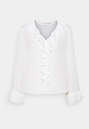 BLOUSE DOUBLE RUFFLE - Bluser - off white