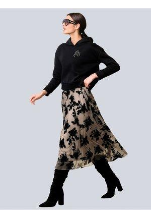 ROCK - A-line skirt - taupe,schwarz