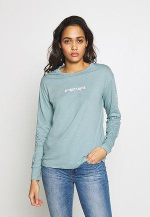 BRANDED URBAN TEE - Long sleeved top - blue