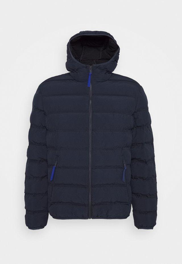 MAN JACKET FIX HOOD - Doudoune - black blue