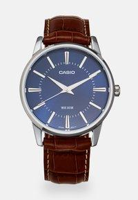 Casio - Watch - brown/silver-coloured - 0