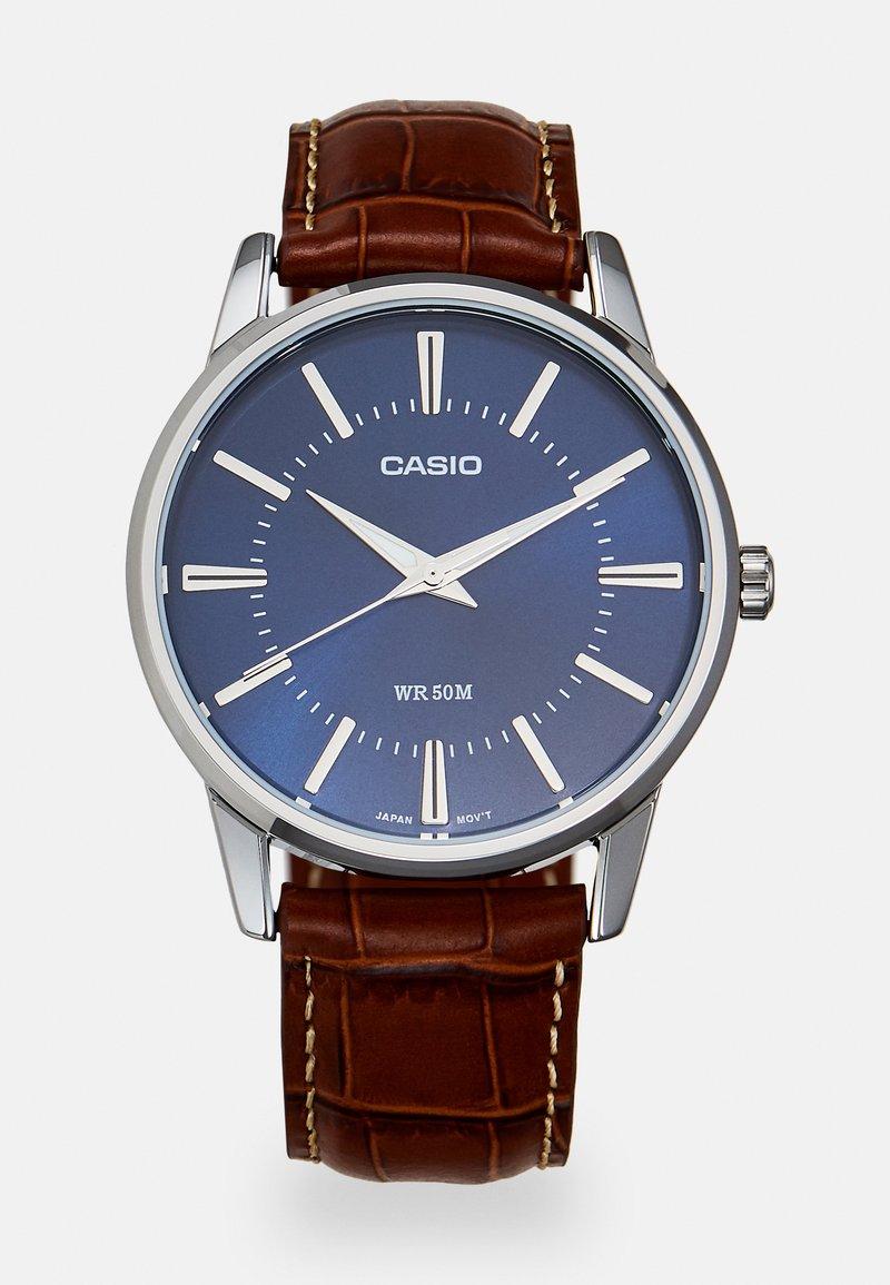 Casio - Watch - brown/silver-coloured
