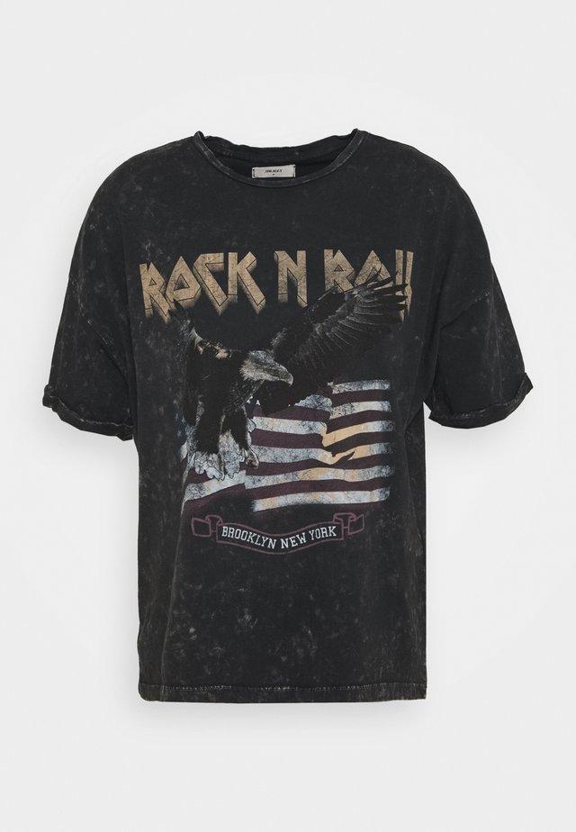 OBJISELIN TEE - Camiseta estampada - black