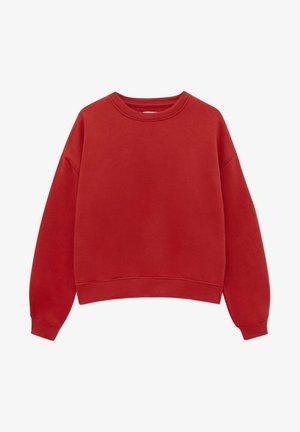 MIT RUNDAUSSCHNITT - Sweatshirt - red