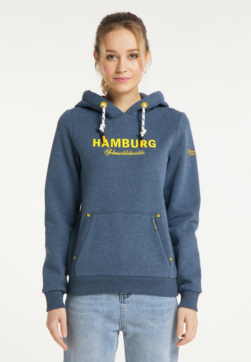 Schmuddelwedda - HAMBURG - Hoodie - marine melange