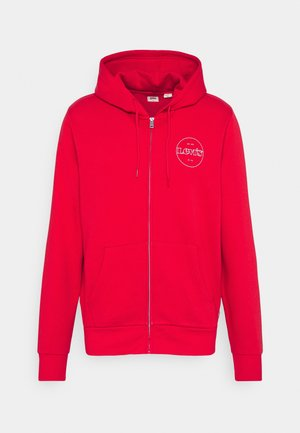 GRAPHIC ZIP UP UNISEX - Zip-up hoodie - reds