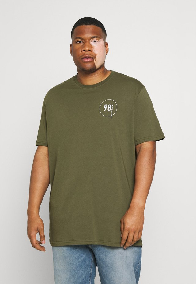 TESTIMONY BACK PRINT LONGLINE TEE - T-shirt print - khaki